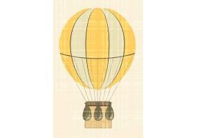 Sticker mural montgolfière