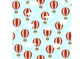 Sticker mural montgolfières