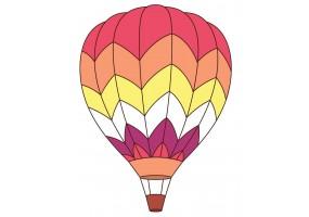 Sticker mural montgolfière rouge