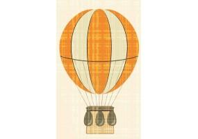 Sticker mural montgolfière jaune