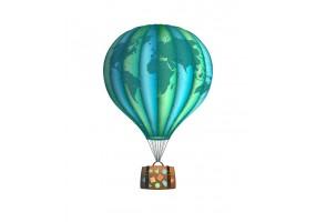 Sticker mural montgolfière monde