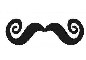Sticker mural moustache