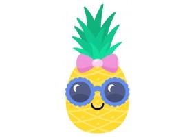 Sticker ananas lunette soleil