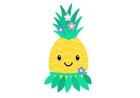 Sticker mural ananas