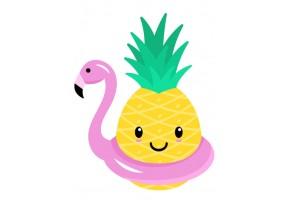Sticker mural ananas piscine