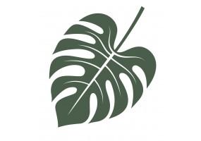 Sticker feuille palmier kaki