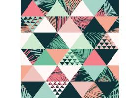 Sticker feuille palmier coloré triangle
