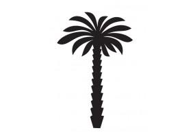 Sticker palmier noir