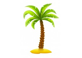 Sticker palmier plage