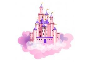 Sticker château nuage
