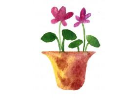 Sticker mural plante fleur