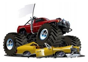 Sticker monster truck