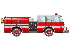 Sticker camion pompier