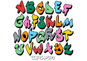 Sticker alphabet tag