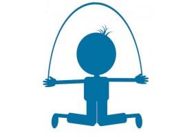 Sticker silhouette corde à sauter