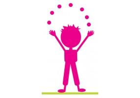 Sticker silhouette jongleur