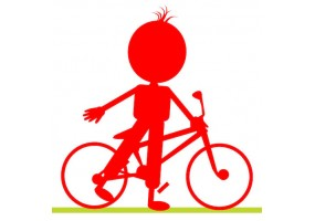 Sticker silhouette vélo