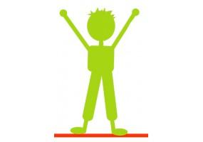 Sticker silhouette verte garçon