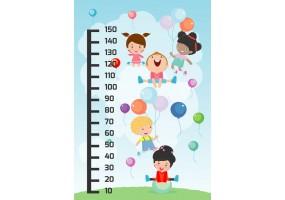 Sticker toise ballon anniversaire