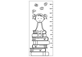 Sticker toise fille livre