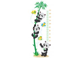 Sticker toise panda