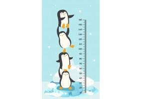 Sticker toise pingouins