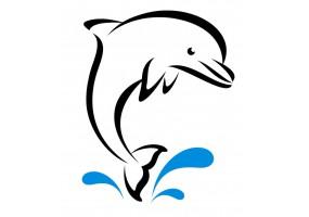 Sticker dauphin vague