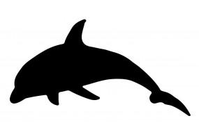 Sticker dauphin noir