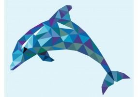 Sticker mural dauphin
