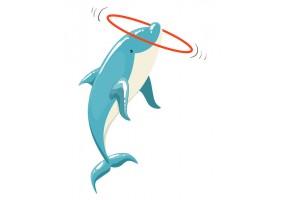 Sticker dauphin cerceau