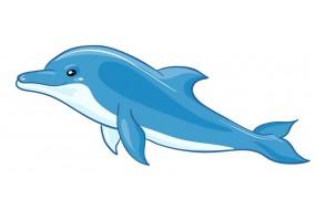 Sticker dauphin bleu