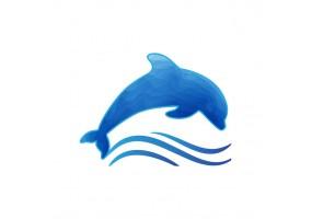 Sticker dauphin aquarelle