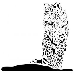 Sticker Eléphant silhouette