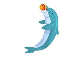 Sticker dauphin ballon