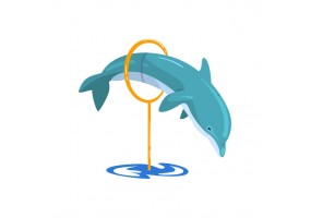 Sticker dauphin saut