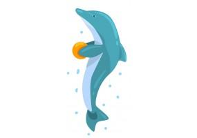 Sticker dauphin eau