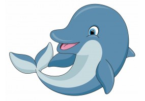 Sticker muraux dauphin