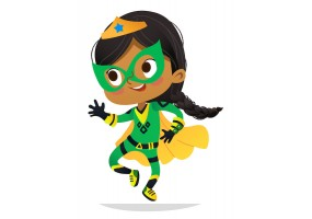 Sticker super héros enfant