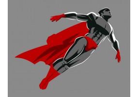 Sticker héros cape rouge