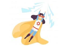 Sticker héros cape jaune