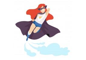 Sticker héros cape gris