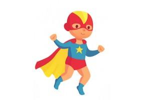Sticker héros bébé