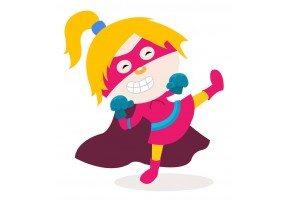 Sticker super héros fille