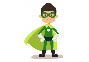 Sticker héros vert
