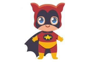 Sticker super héros garçon