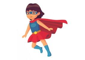 Sticker héros fille