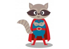 Sticker héros raton-laveur