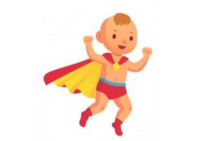 Sticker super héros bébé