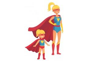 Sticker super héros famille