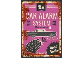 Sticker essence car alarm
